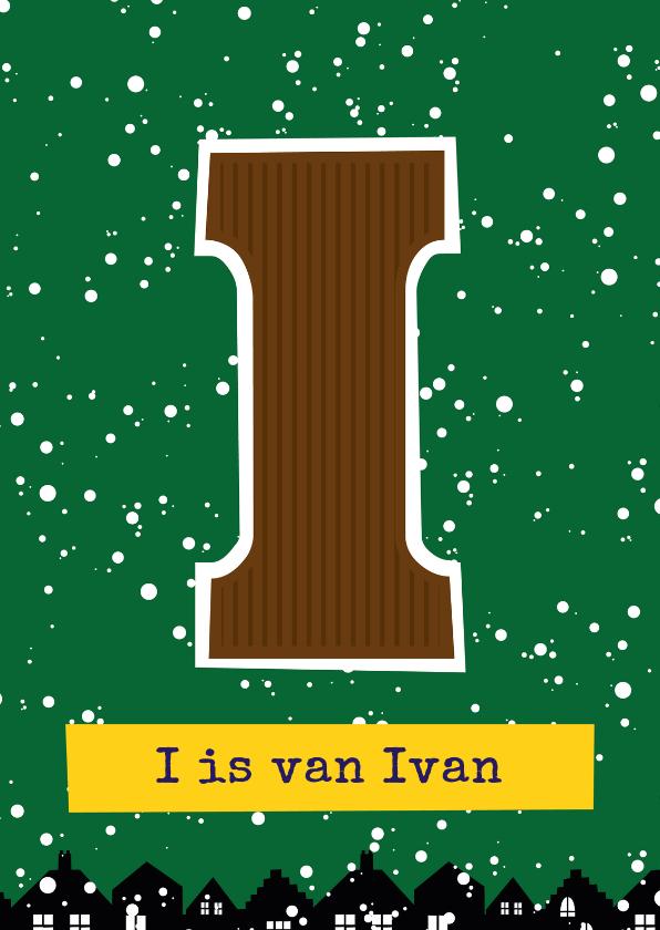 Sinterklaaskaarten - Sinterklaaskaart choco I