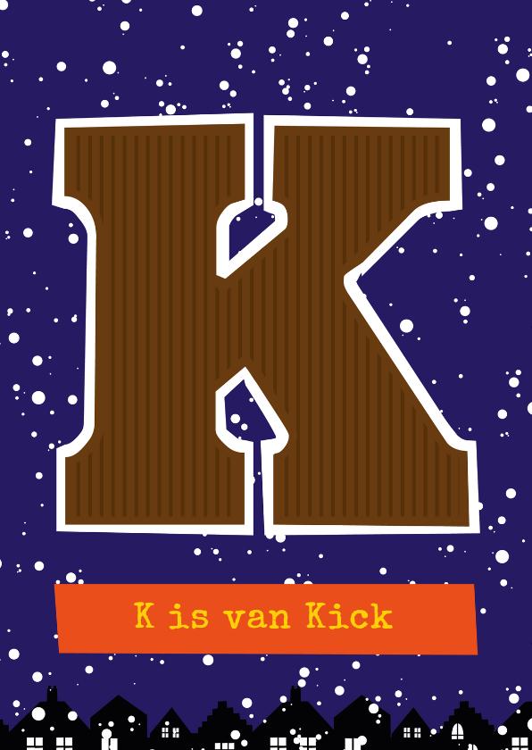 Sinterklaaskaarten - Sinterklaaskaart choco K