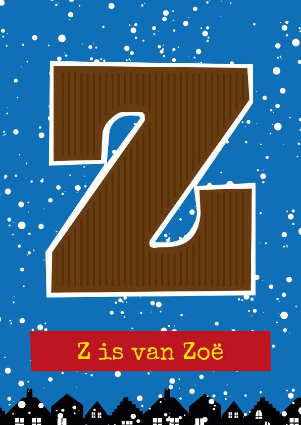 Sinterklaaskaarten - Sinterklaaskaart choco Z