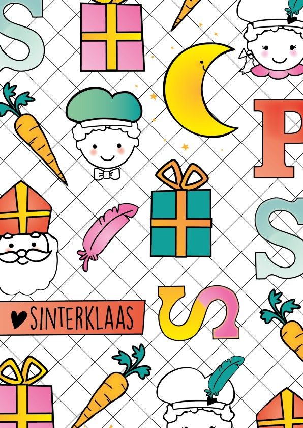 Sinterklaaskaarten - Sinterklaaskaart happy
