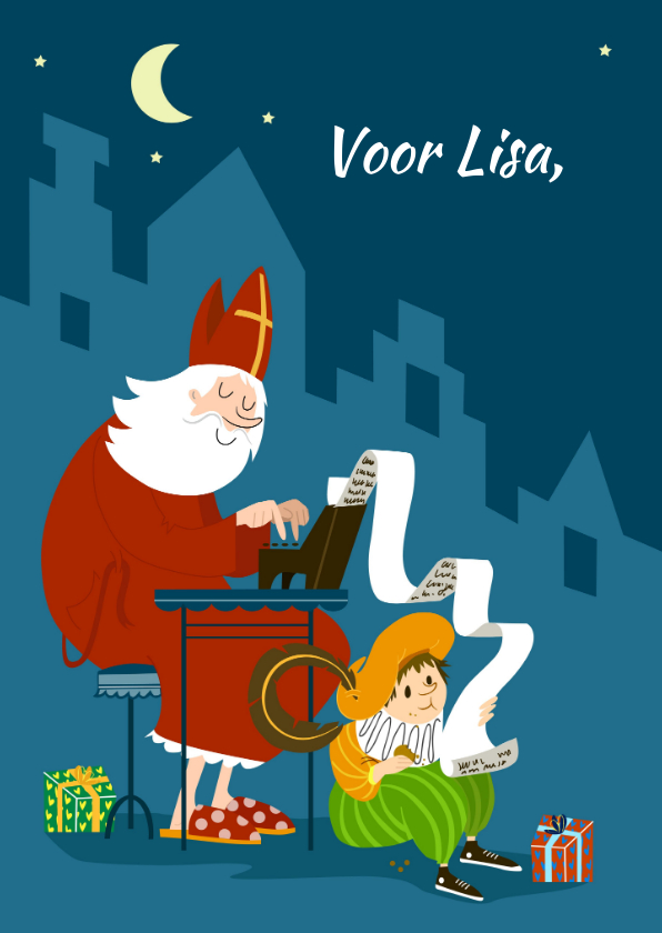 Sinterklaaskaarten - Sinterklaaskaart - IR