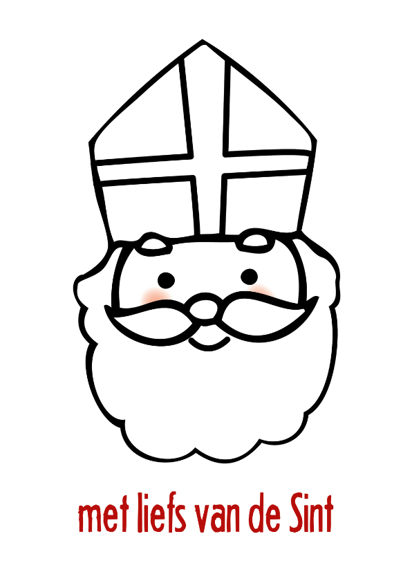 Sinterklaaskaarten - Sinterklaaskaart liefs van Sint