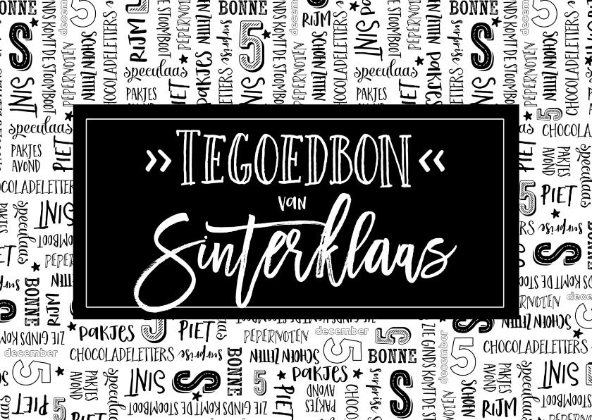 Sinterklaaskaarten - Sinterklaaskaart tegoedbon