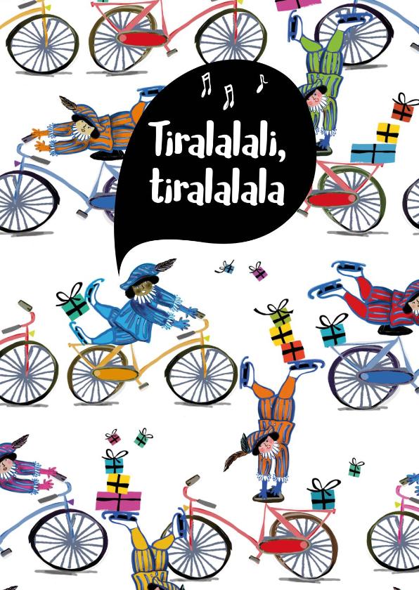 Sinterklaaskaarten - Sinterklaaskaart voor je gedicht met acrobatische pietjes