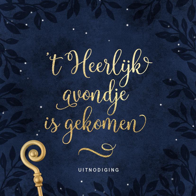 Sinterklaaskaarten - Stijlvolle uitnodiging pakjesavond