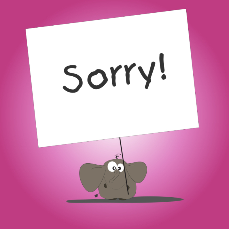 Sorry kaarten - Mo Card - Sorrykaart Rodney olifant