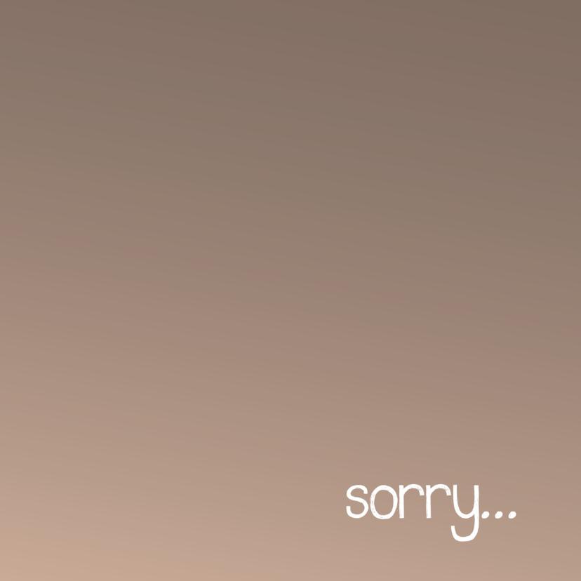 Sorry kaarten - Sorry...bruin