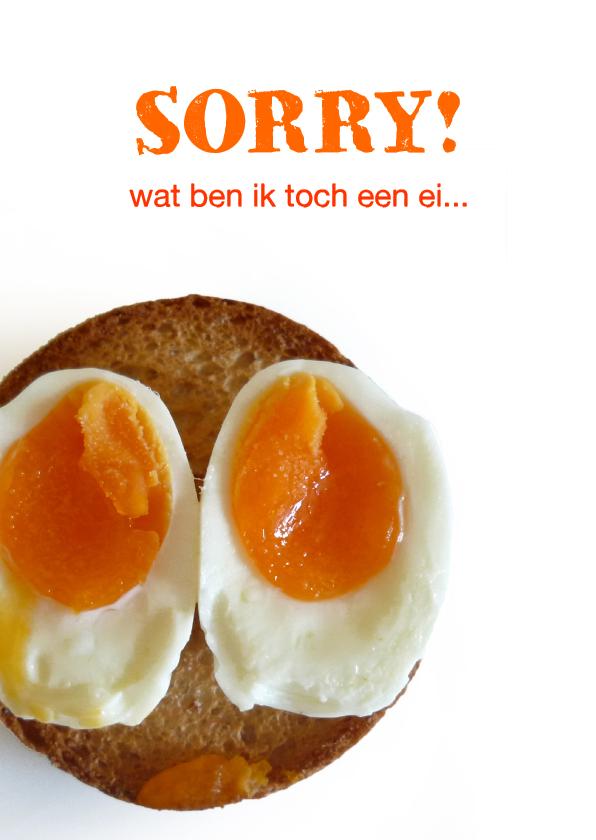 Sorry kaarten - Sorry ik ben een ei