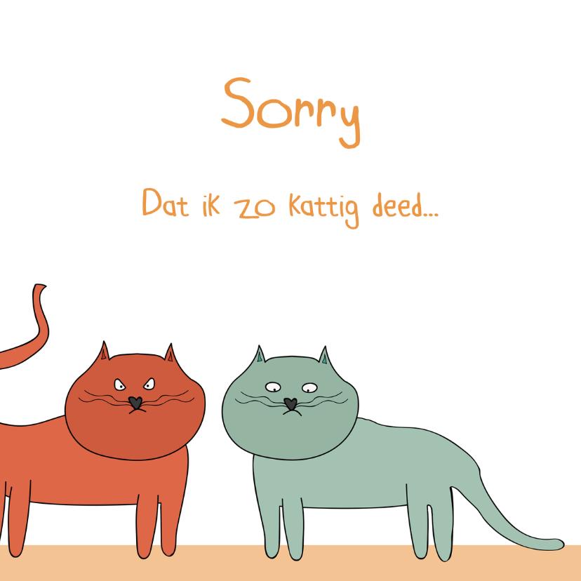 Sorry kaarten - Sorry kaart die niet kattig overkomt...