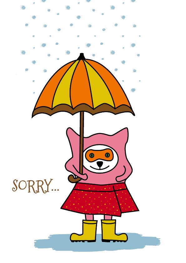 Sorry kaarten - Sorry  Kat Regen - HR