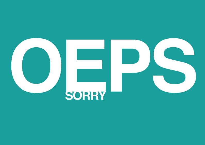 Sorry kaarten - Sorry Oeps