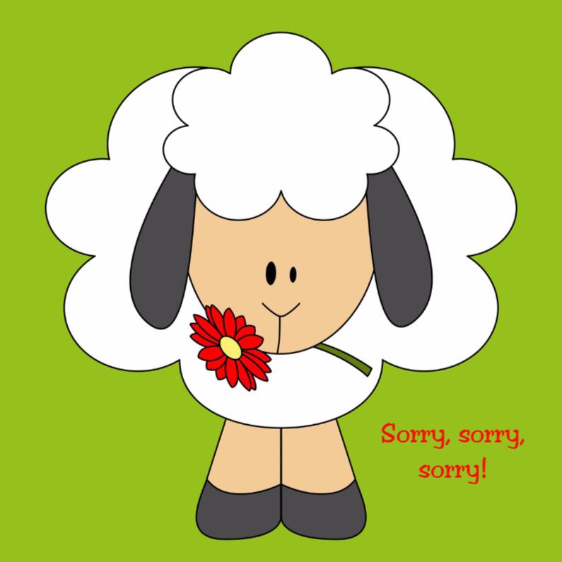 Sorry kaarten - Sorry schaapje