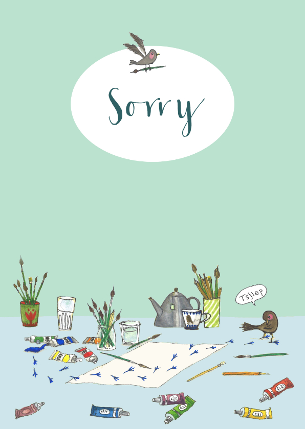 Sorry kaarten - Sorry vogelpootjes
