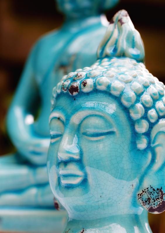 Religie kaarten - Blauwe buddha's - OT