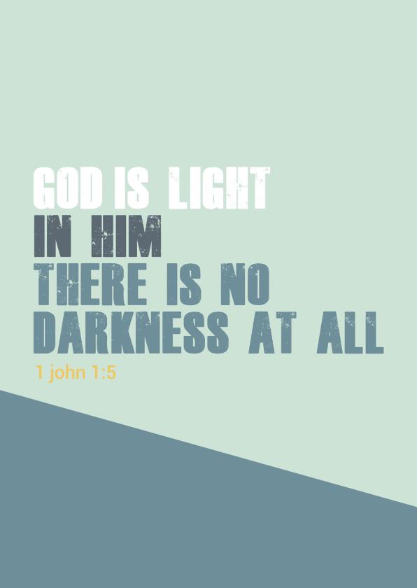 Religie kaarten - God is light - BF