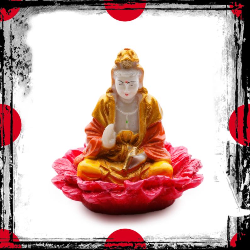 Religie kaarten - Gouden buddha op roze lotus - OT