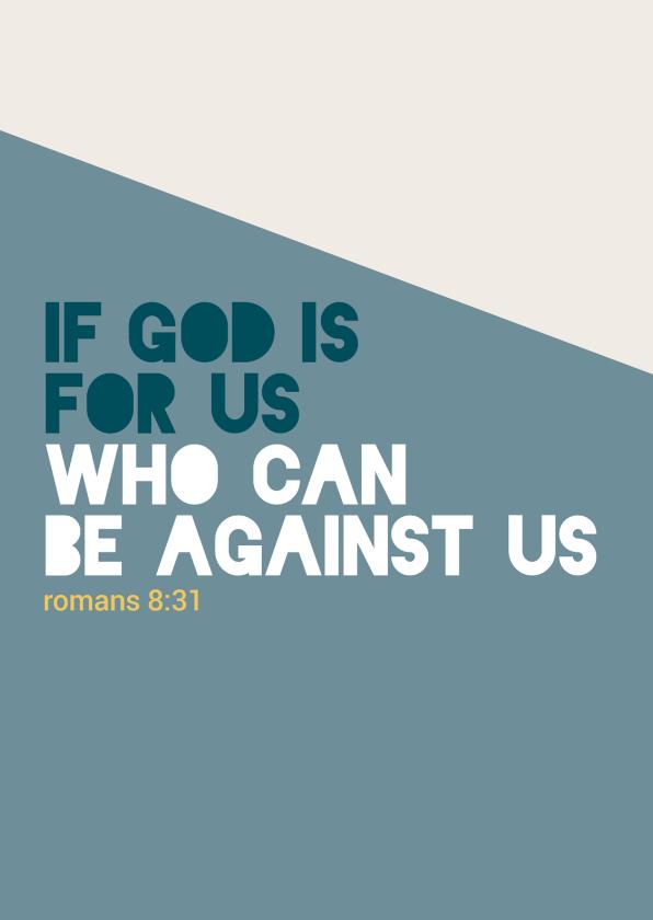 Religie kaarten - If God is for us - BF