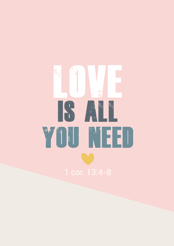 Religie kaarten - Love is all you need -BF