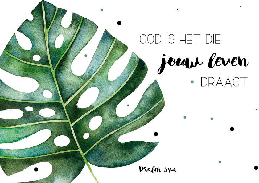 Religie kaarten - Religie kaart: God is het die jouw leven draagt!