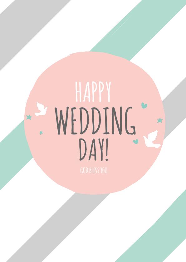 Religie kaarten - Religie kaarten Christelijk Happy wedding day