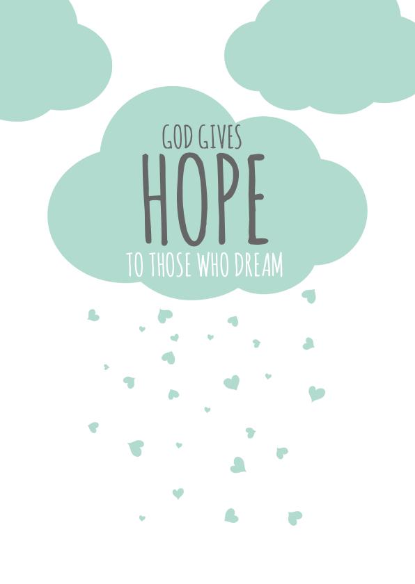 Religie kaarten - Religie kaarten Christeljk God gives hope