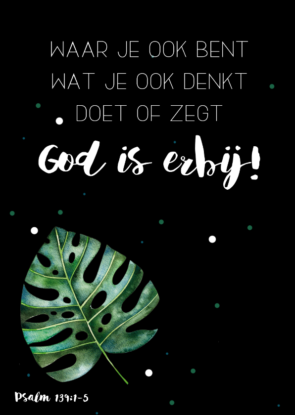 Religie kaarten - Religiekaartje: God is erbij!
