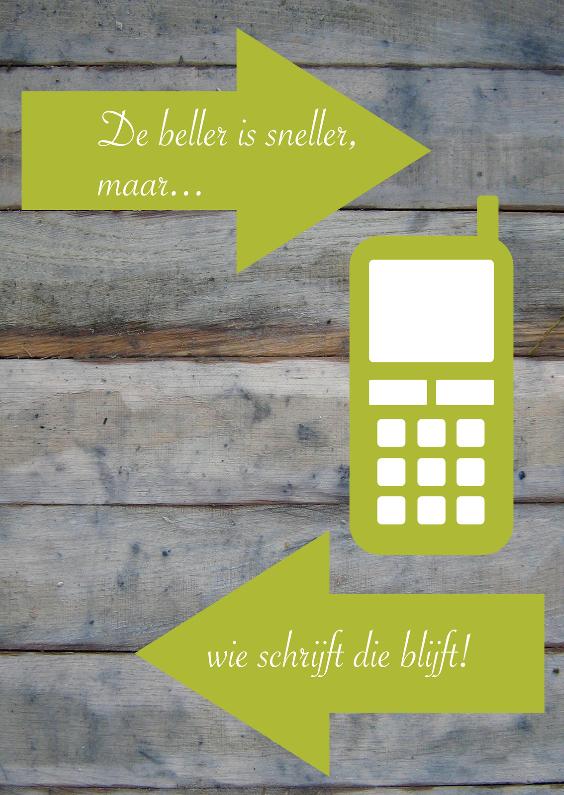 Spreukenkaarten - De beller is sneller