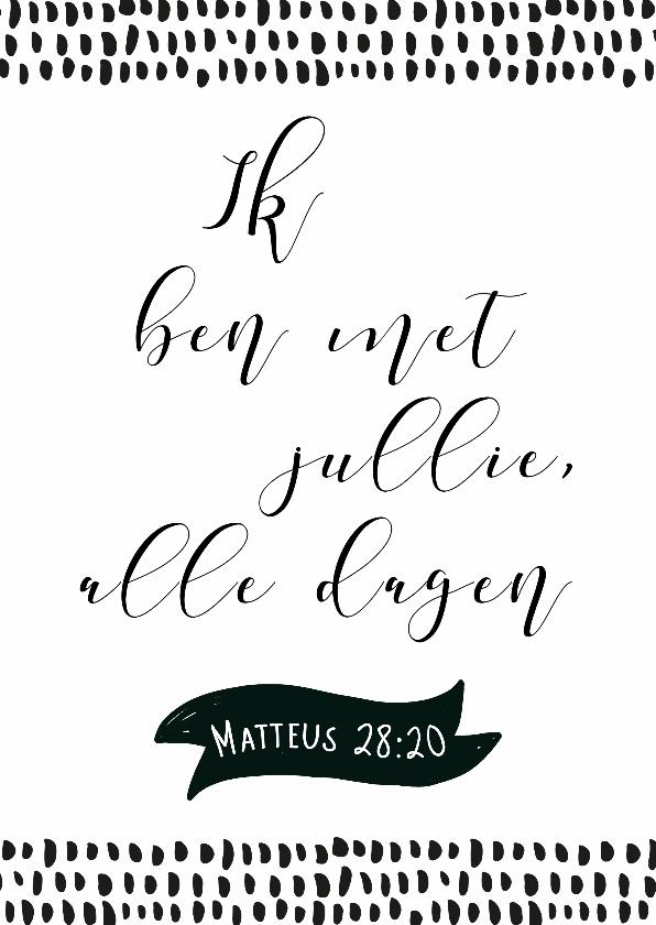 Spreukenkaarten - Kaart bijbeltekst Matteus - WW