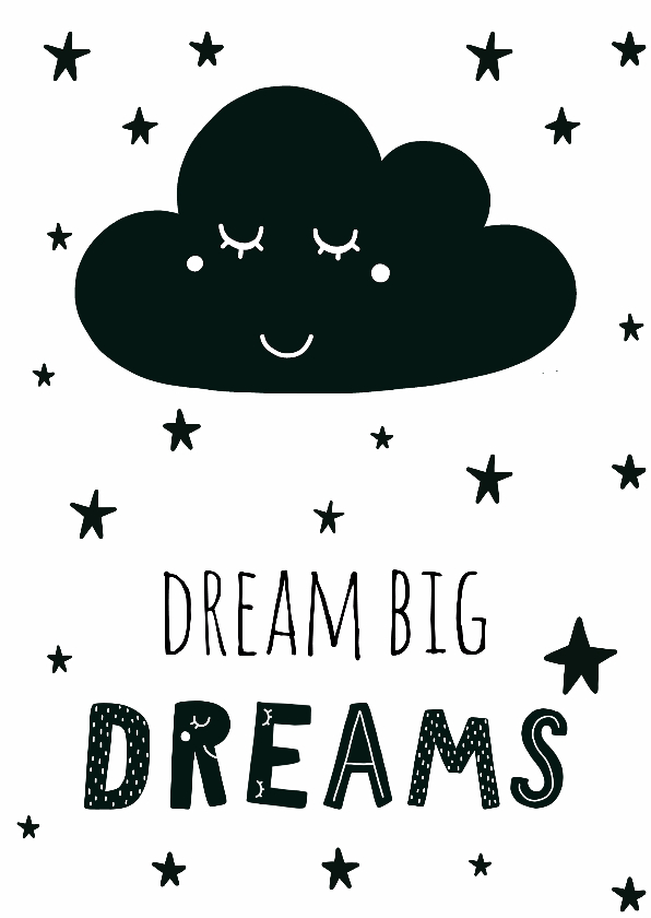 "Spreukenkaarten - Kaart ""Dream big dreams"" - WW"