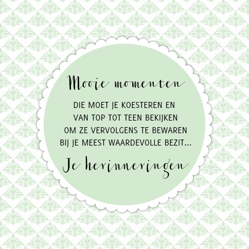 """Spreukenkaarten - Kaartje """"Mooie Momenten"""" - WW"""