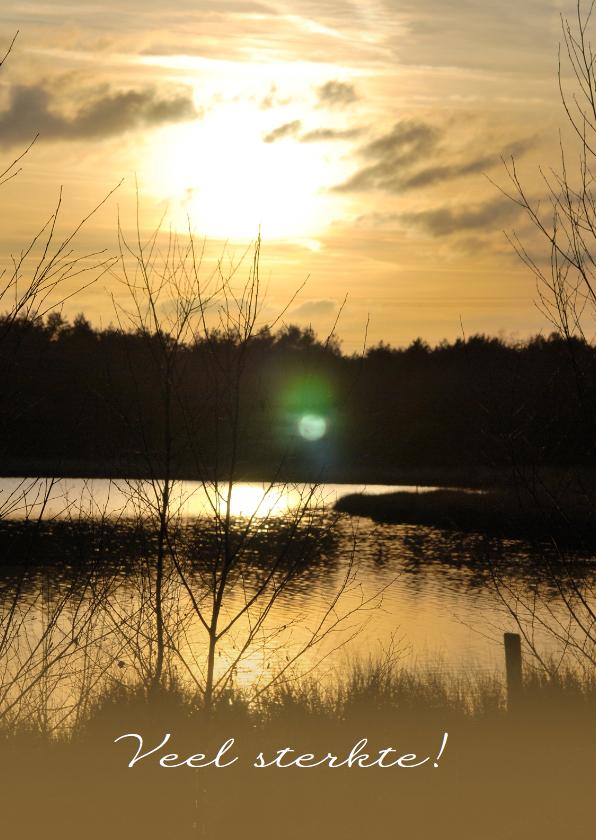Sterkte kaarten - Fotokaart zonsondergang geel