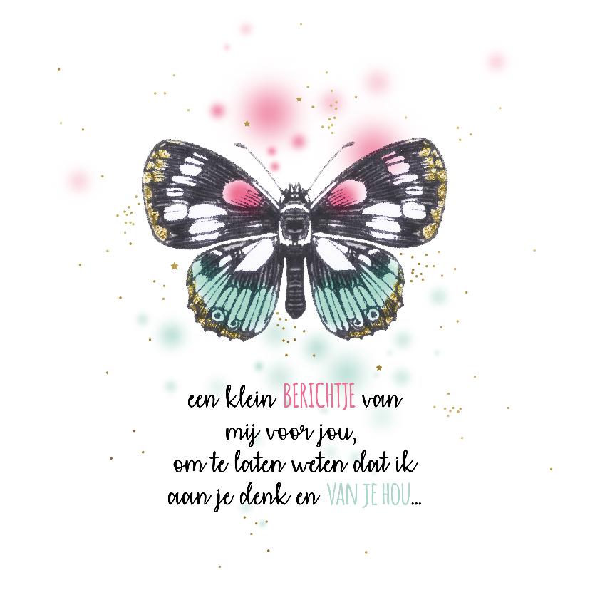 Sterkte kaarten - Sprookjesachtige vlinder sterkte wenskaart