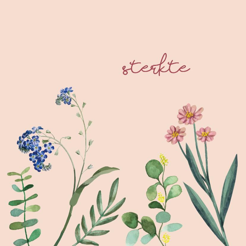 Sterkte kaarten - Sterkte - bloem - sterktekaart