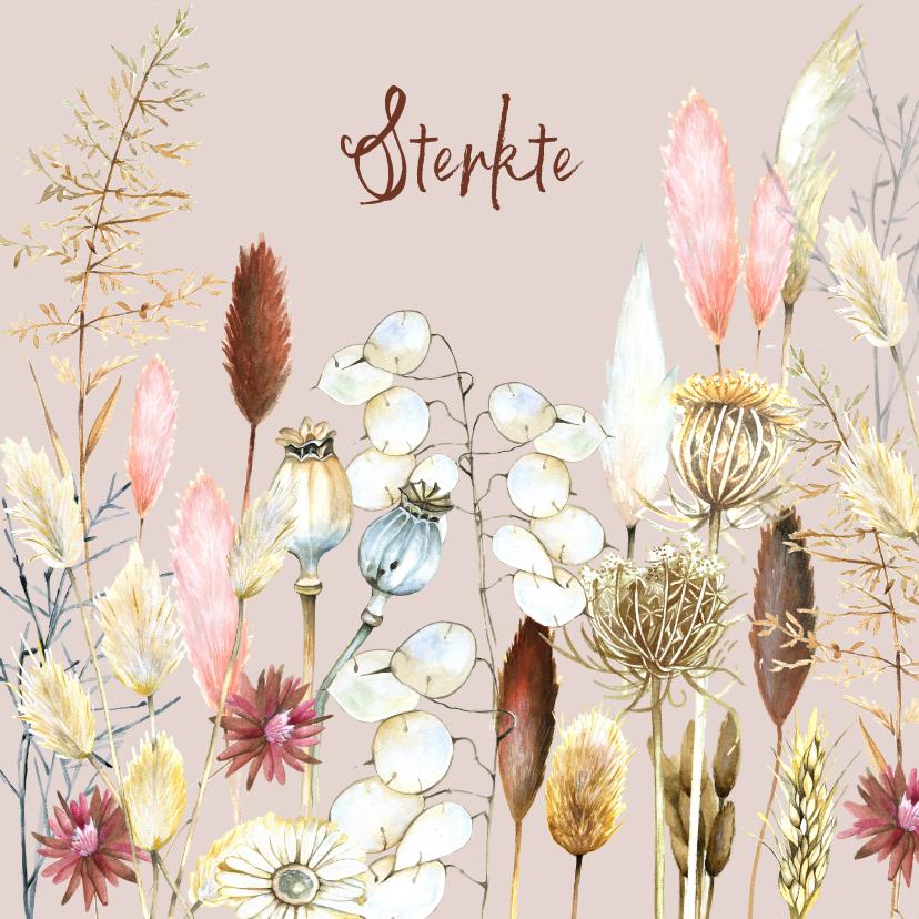 Sterkte kaarten - Sterkte droogbloemen