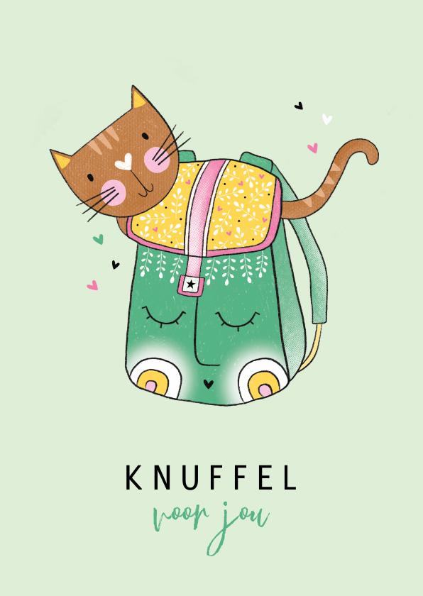 Sterkte kaarten - Sterkte kaart kat in rugzak