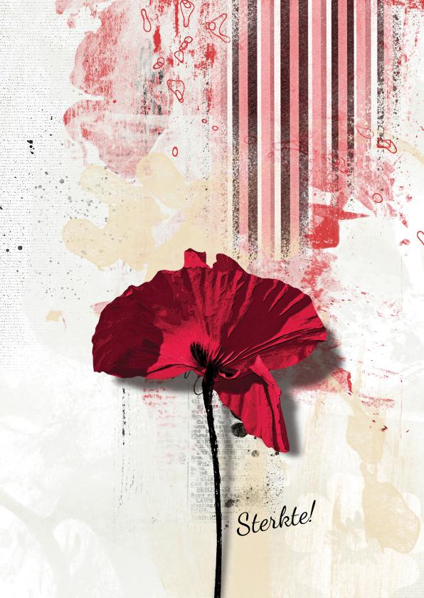 Sterkte kaarten - Sterkte kaart klaproos poppy bloem
