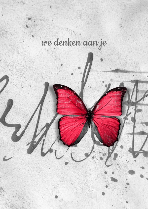 Sterkte kaarten - Sterkte kaart scribble vlinder