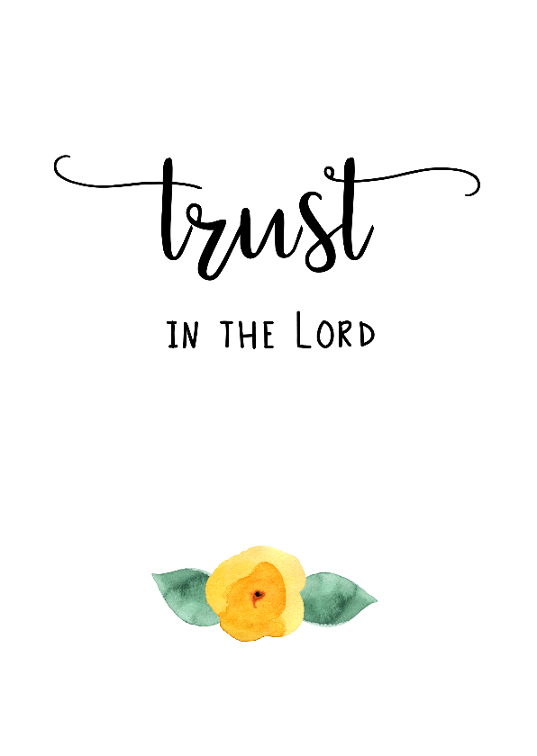 "Sterkte kaarten - Sterkte kaart ""Trust in the Lord"""
