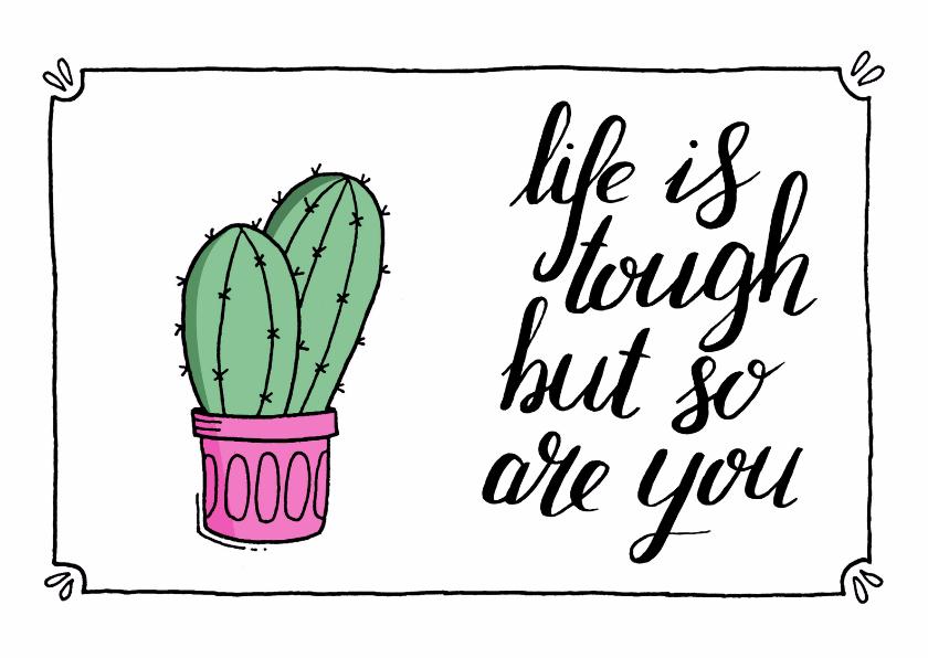 Sterkte kaarten - Sterkte kaartje cactus - ST