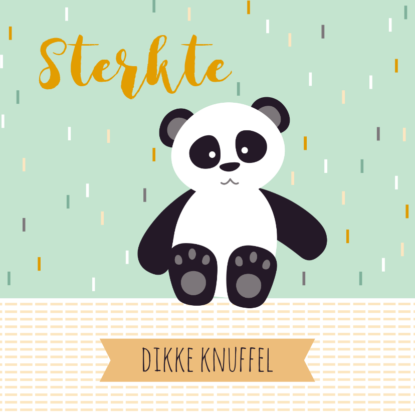 Sterkte kaarten - Sterkte kaartje met een lieve panda