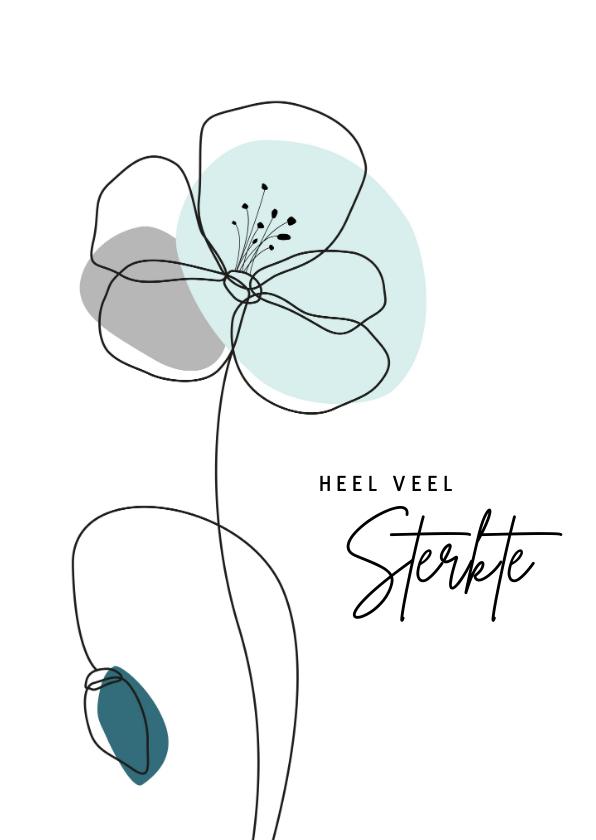 Sterkte kaarten - Sterkte - Lijntekening bloem