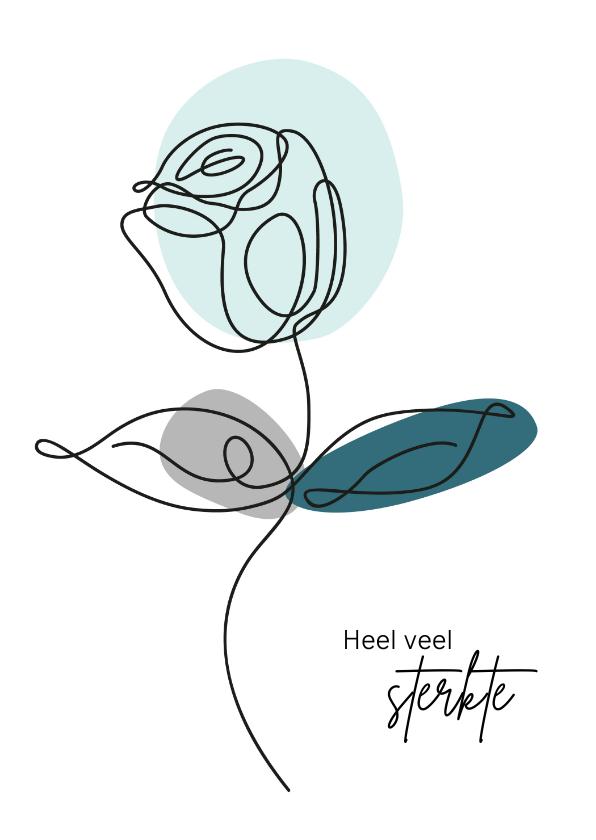Sterkte kaarten - Sterkte - Lijntekening van een roos