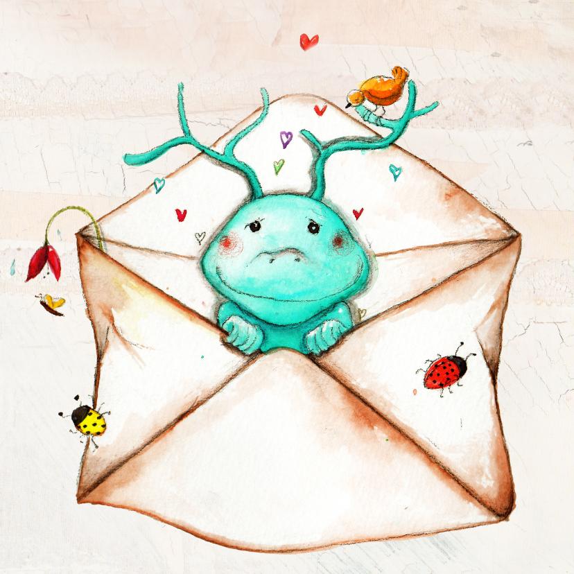 Sterkte kaarten - Sterkte of knuffel in een envelop