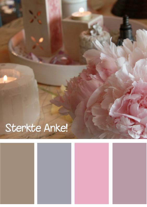 Sterkte kaarten - Sterkte roze bloem kleuren