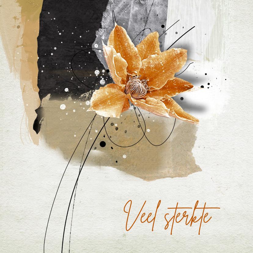 Sterkte kaarten - Sterktekaart abstract achtergrond bloem