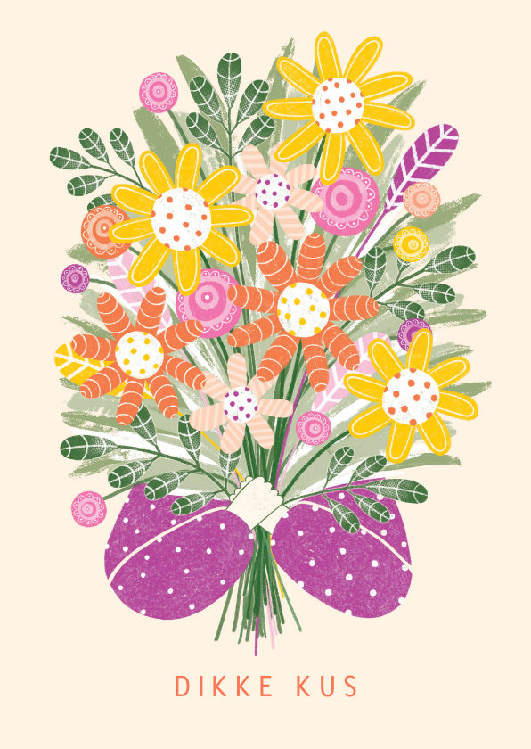 Sterkte kaarten - Sterktekaart armen vol bloemen