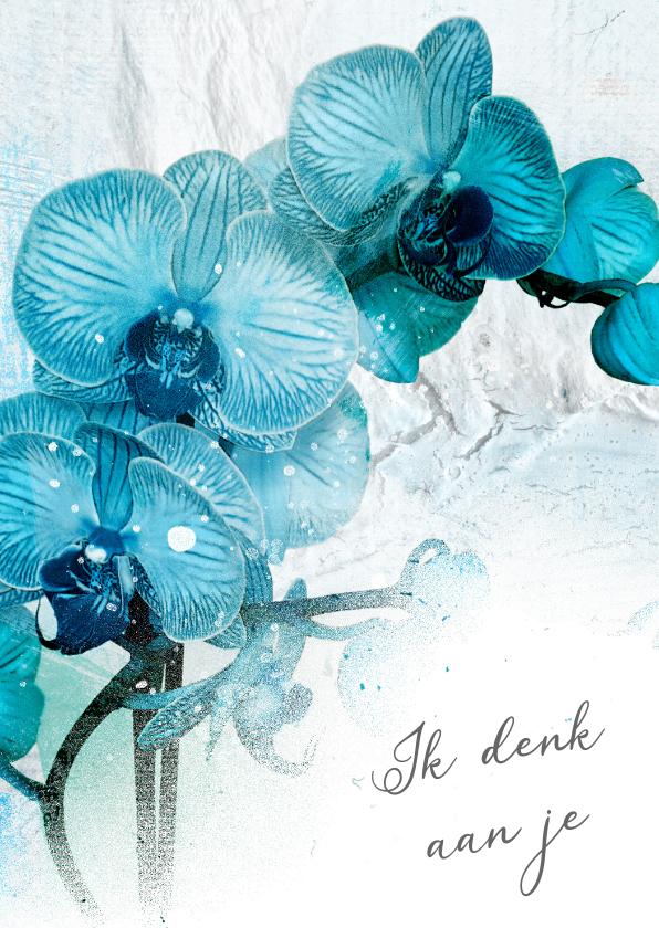 Sterkte kaarten - Sterktekaart blauwe orchidee aquarel