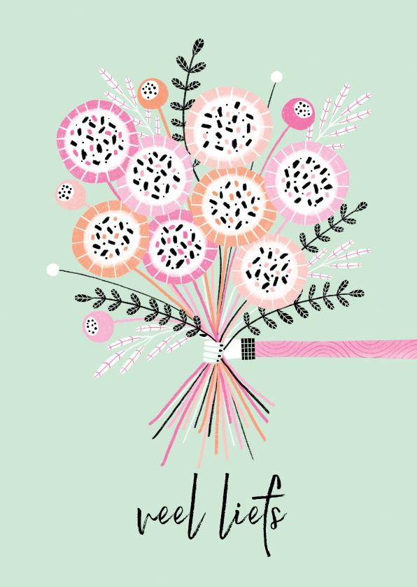 Sterkte kaarten - Sterktekaart bos bloemen mint