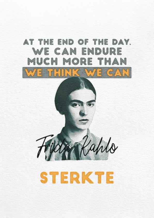 Sterkte kaarten - Sterktekaart - Frida Kahlo