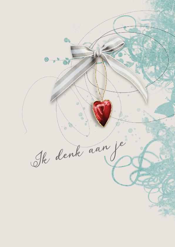Sterkte kaarten - Sterktekaart rood hart met strik